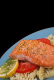 Salmon steak 1 Stock Photos