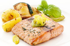 Salmon Steak Stock Image