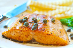 Salmon steak 2 royalty free stock photo