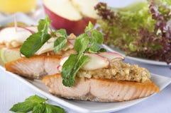 Salmon steak Stock Image