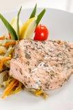 Salmon steak royalty free stock photography