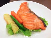 Salmon Steak Royaltyfria Bilder