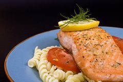 Salmon steak 4 Royalty Free Stock Photo