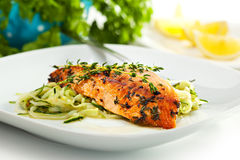 Salmon Steak Stockbilder