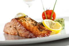 Salmon Steak imagen de archivo