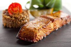 Salmon Steak fotos de archivo