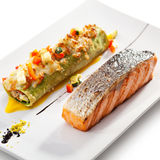 Salmon Steak Royaltyfria Foton
