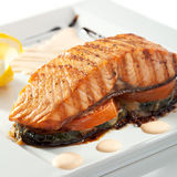 Salmon Steak Royaltyfria Bilder