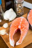 Salmon Steak Stock Afbeeldingen
