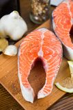 Salmon Steak Photo stock