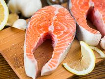 Salmon Steak Image stock