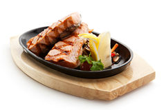 Salmon Steak Lizenzfreies Stockbild