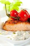Salmon Steak Imagen de archivo libre de regalías