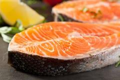 Salmon Steak Lizenzfreies Stockfoto