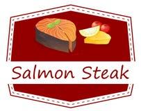 Salmon Steak Foto de archivo libre de regalías