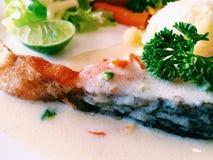 Salmon Steak Foto de Stock Royalty Free