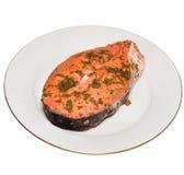 Salmon Steak Stock Foto's