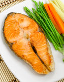 Salmon Steak Foto de Stock Royalty Free