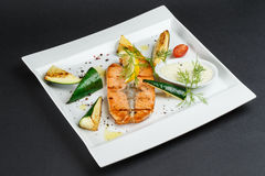 Salmon Steak Fotografia de Stock