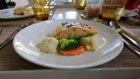 Salmon Steak Imagem de Stock