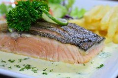Salmon Steak Stockbild