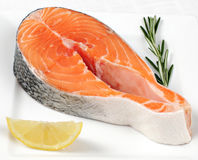 Salmon Steak stock fotografie