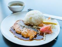 Salmon Steak Royalty-vrije Stock Afbeeldingen