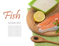 Salmon steak filet Stock Photos