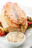 Salmon Steak Royalty Free Stock Photos