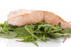 Salmon steak. Stock Photo