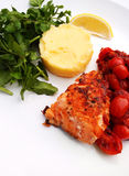 Salmon steak grilled Stock Photos