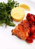 Salmon steak grilled stock photos