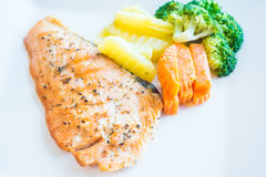 Salmon steak Royalty Free Stock Image