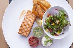 Salmon steak Stock Photos