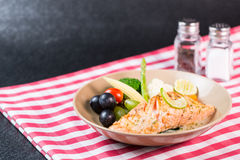 Salmon steak seafood Royalty Free Stock Photography