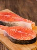 Salmon  steak Stock Photo