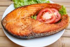 Salmon steak. Royalty Free Stock Image