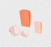 Salmon Steak Vector Flat Design Illustration Stock Photo