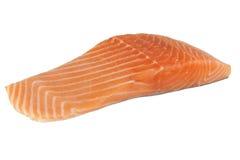 Salmon. Steak on white background Royalty Free Stock Images