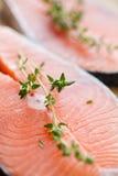 Salmon steaks Stock Image