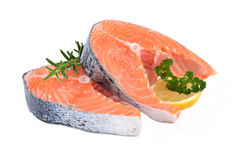Salmon steaks Royalty Free Stock Image