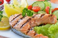Salmon steaks Stock Photo