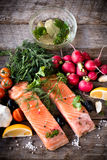 Salmon steaks Royalty Free Stock Photo