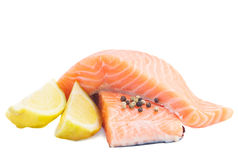 Salmon steaks Royalty Free Stock Images