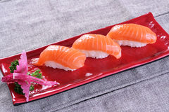 Salmon sushi. Oyster Seafood Prepared Oysters Freshness rice royalty free stock photos