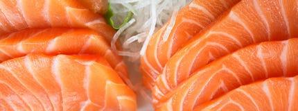 Salmon Sushi. Fresh prepared salmon sashimi dish Royalty Free Stock Images