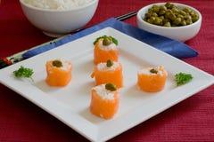 Salmon sushi Royalty Free Stock Photos