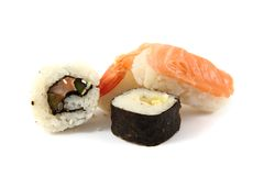 Salmon sushi as gourmet food Royalty Free Stock Photography