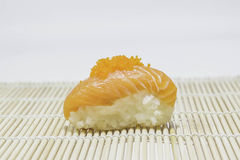 Salmon sushi. Royalty Free Stock Photography