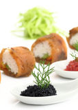 Salmon sushi and caviar Royalty Free Stock Photo